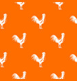 gallic rooster pattern seamless vector image vector image