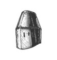 great helm also called pot bucket and barrel vector image vector image