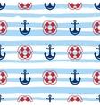 Grunge marine seamless pattern vector image vector image