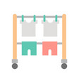 hang dry clothes on clothes horse cleaning and vector image