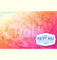 happy holi doodle background for festival of vector image vector image