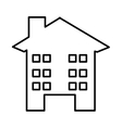 house silhouette isolated icon design vector image vector image