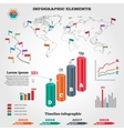 Infographics elements set Columns map timeline vector image vector image