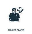 injured player icon mobile apps printing and vector image