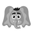 isolated cute avatar an elephant vector image vector image