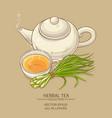 lemongrass tea vector image vector image