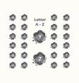 letter a-z logo ikon gray color templat vector image vector image
