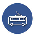 line icon of trolleybus with shadow eps 10 vector image vector image