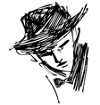 man with hat vector image vector image