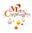 merry christmas holiday horizontal banner vector image vector image