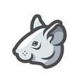 mouse grey head icon cartoon vector image