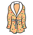 multicolor bathrobe on white background vector image