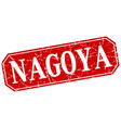 nagoya red square grunge retro style sign vector image vector image