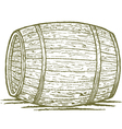 old barrel vector image vector image