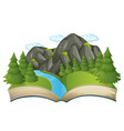open book nature theme vector image