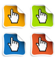 pixel cursor hand stickers vector image vector image