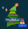 poster merry christmas greeting cards vector image