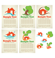 property cards vector image vector image