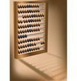 retro abacus vector image vector image