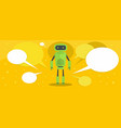 robot banner flat style vector image