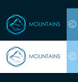 round icon with mountain in circle vector image
