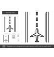runway line icon vector image vector image