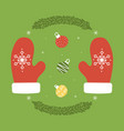 set collection christmas and winter elements vector image vector image