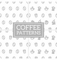set of geometric coffee pattern in memphis style vector image vector image
