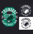 set of isolated banners for hockey team vector image