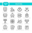 Set outline icons of heating vector image vector image