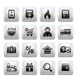 Shopping Icons square gray Web 20 icons vector image
