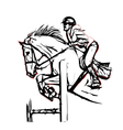 show jumping vector image vector image