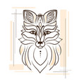 stylized of a fox for a tattoo vector image vector image