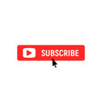 subscription element logo subscribe now button vector image vector image