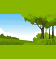 summer landscape with fields and green hills vector image vector image