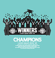 The Winner Cup Soccer or Football Champions vector image