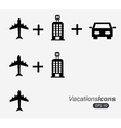 travel icons over white background vector image vector image