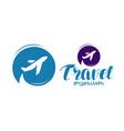 travel logo or label journey tour voyage symbol vector image vector image