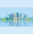 urban landscape modern city building vector image