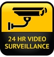 Video surveillance sign cctv sticker vector image vector image