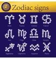 zodiac signs full set shining vector image vector image