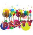 party glasses illustration vector image