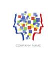 abstract head logo vector image