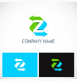 arrow letter z colored logo vector image