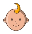 Baby face icon cartoon style vector image