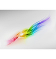 background rainbow shine center vector image vector image