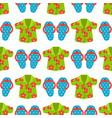 beachwear cloth fashion looks vacation seamless vector image vector image