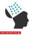 Brain Shower Eps Icon vector image