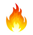 burning fire icon explosion and blazing element vector image vector image
