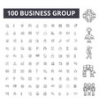 business group line icons signs set vector image vector image
